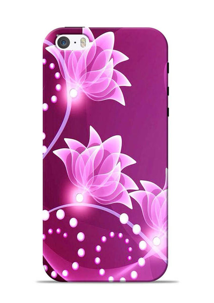Pink Flower iPhone 5s Mobile Back Cover