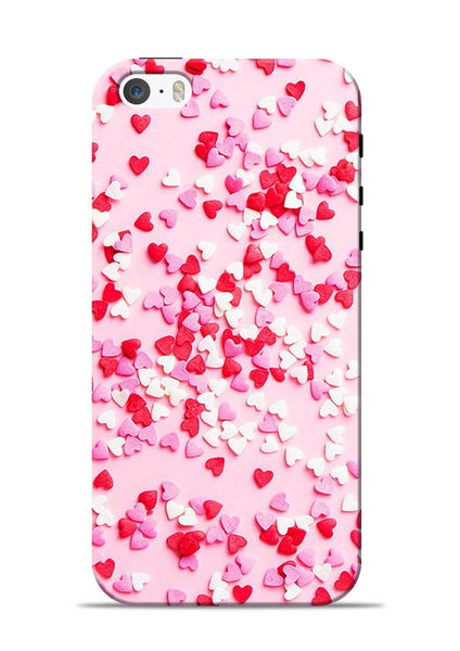White Red Heart iPhone 5s Mobile Back Cover