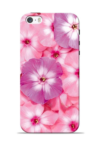 Purple Pink Flower iPhone 5s Mobile Back Cover