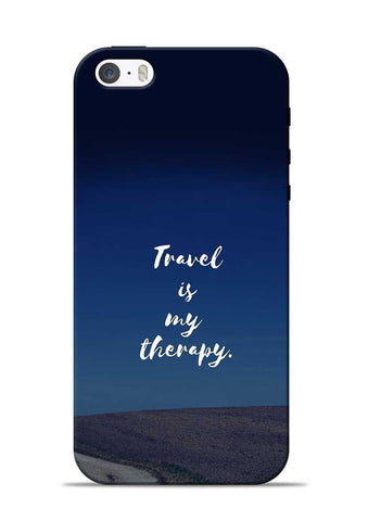 Travel Is My Therapy iPhone 5s Mobile Back Cover