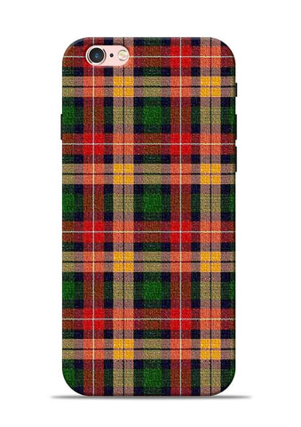 Green Checks iPhone 6 Mobile Back Cover
