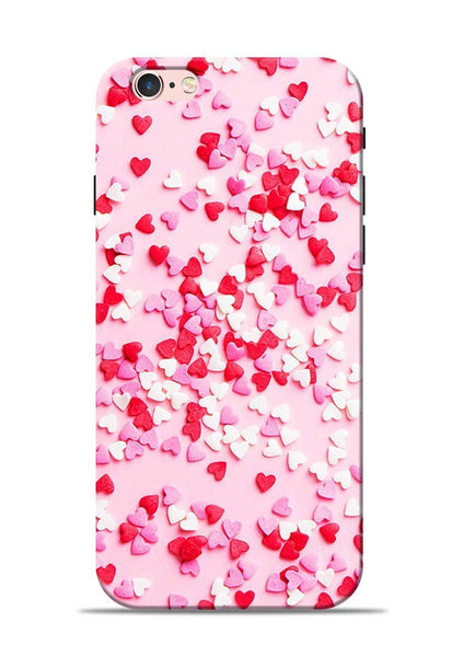 White Red Heart iPhone 6s Mobile Back Cover