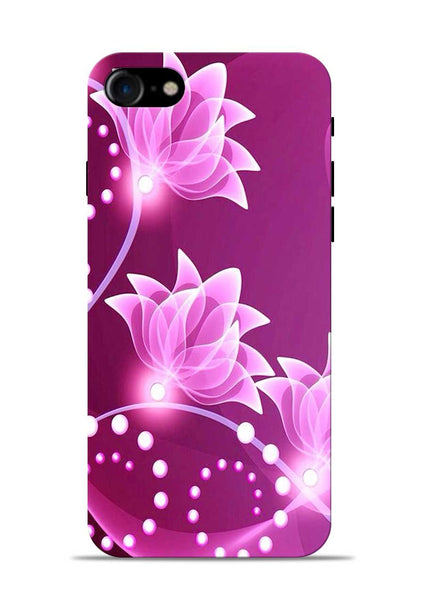 Pink Flower iPhone 7 Mobile Back Cover