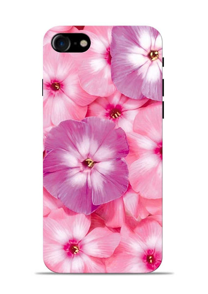 Purple Pink Flower iPhone 7 Mobile Back Cover