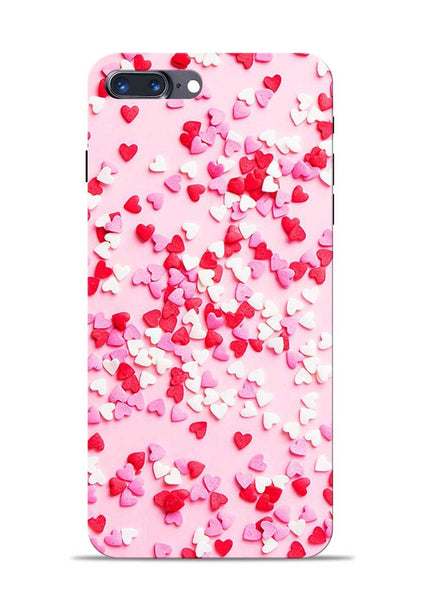 White Red Heart iPhone 7 Plus Mobile Back Cover