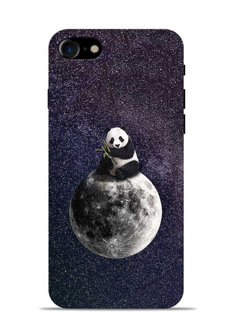 Panda On moon iPhone 8 Mobile Back Cover