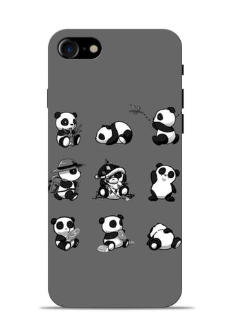 Nine Panda Moods iPhone 8 Mobile Back Cover