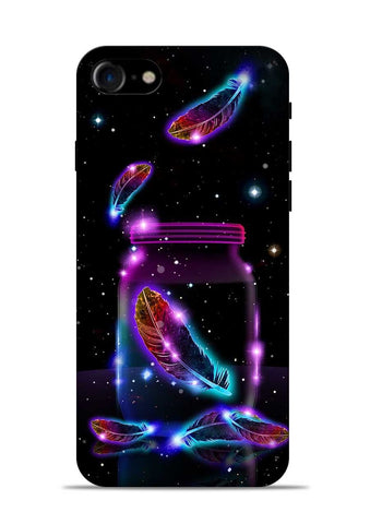 Glowing Bird Fur iPhone 8 Mobile Back Cover