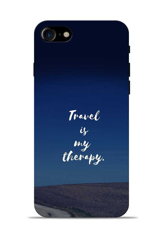 Travel Is My Therapy iPhone 8 Mobile Back Cover
