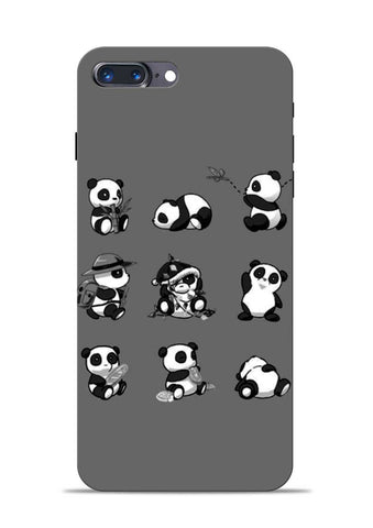 Nine Panda Moods iPhone 8 Plus Mobile Back Cover