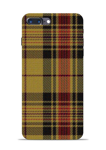 Brown Checks iPhone 8 Plus Mobile Back Cover