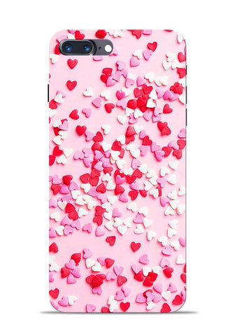 White Red Heart iPhone 8 Plus Mobile Back Cover