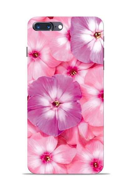 Purple Pink Flower iPhone 8 Plus Mobile Back Cover
