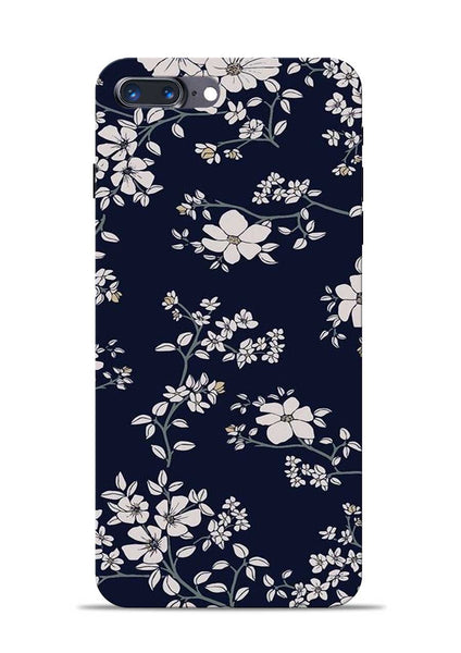 The Grey Flower iPhone 8 Plus Mobile Back Cover