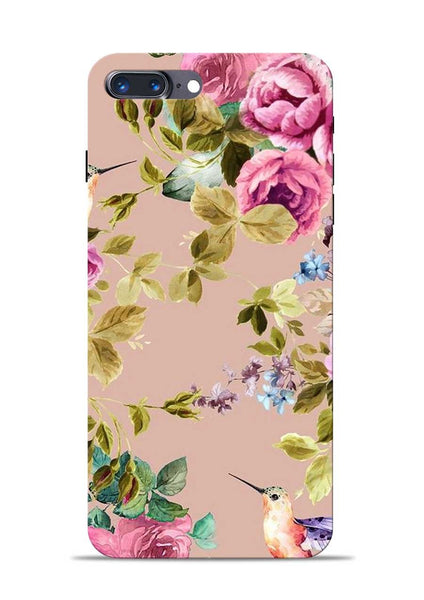 Red Rose iPhone 8 Plus Mobile Back Cover