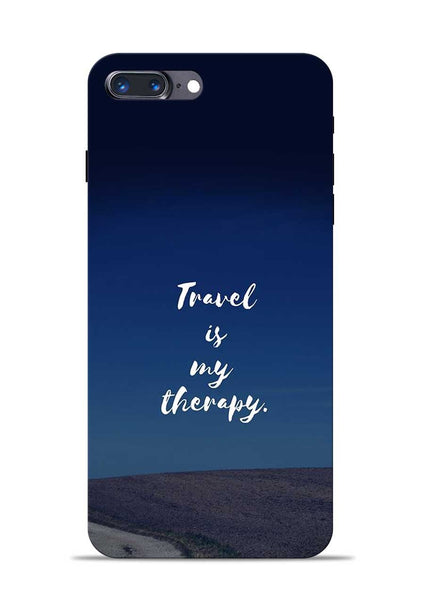 Travel Is My Therapy iPhone 8 Plus Mobile Back Cover