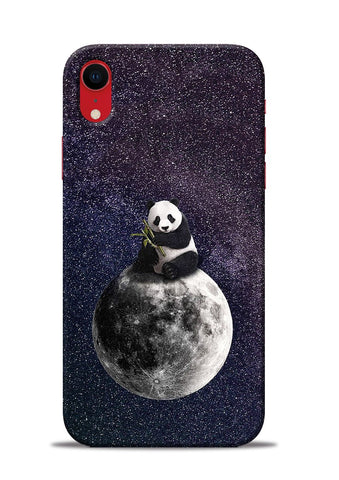 Panda On moon iPhone XR Mobile Back Cover