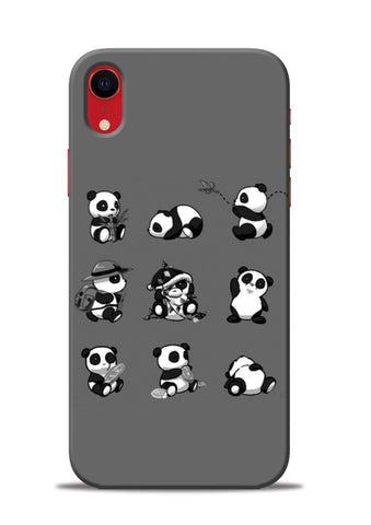 Nine Panda Moods iPhone XR Mobile Back Cover