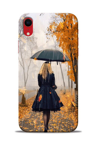 Walk In A Rain iPhone XR Mobile Back Cover
