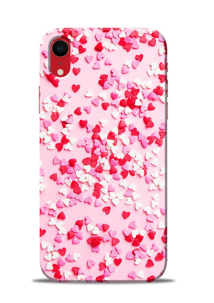 White Red Heart iPhone XR Mobile Back Cover