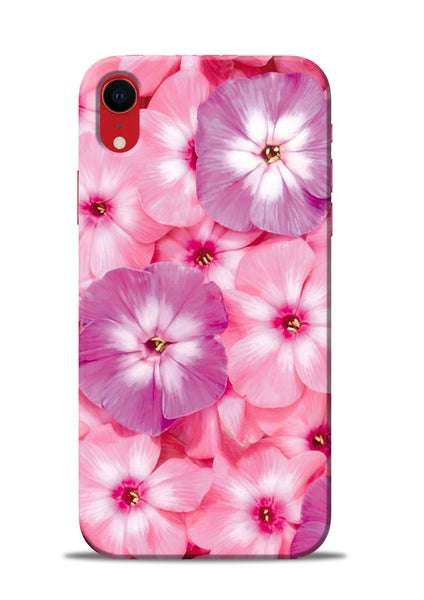 Purple Pink Flower iPhone XR Mobile Back Cover