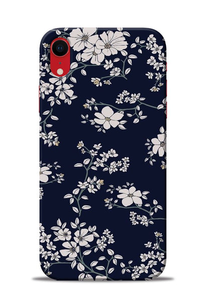The Grey Flower iPhone XR Mobile Back Cover