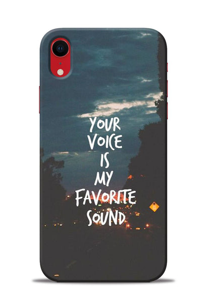 Your Voice iPhone XR Mobile Back Cover
