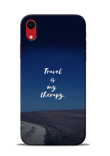 Travel Is My Therapy iPhone XR Mobile Back Cover