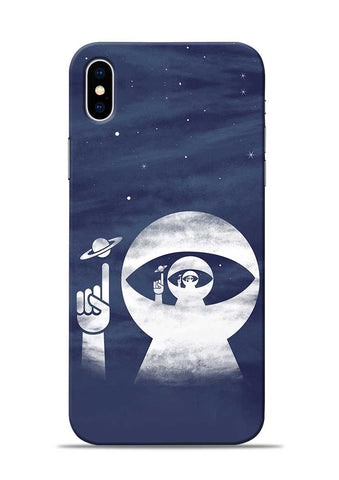To Moon iPhone XS Max Mobile Back Cover