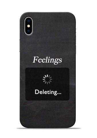 Deleting Feelings iPhone XS Max Mobile Back Cover