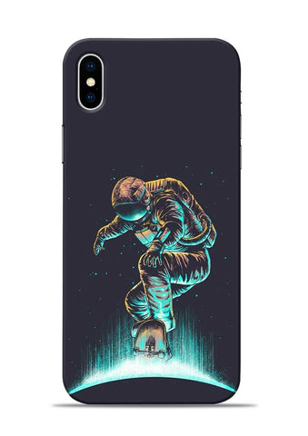Astronaut Roller Skating iPhone XS Max Mobile Back Cover