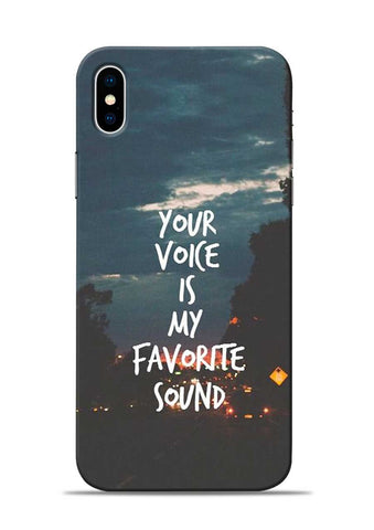 Your Voice iPhone XS Max Mobile Back Cover