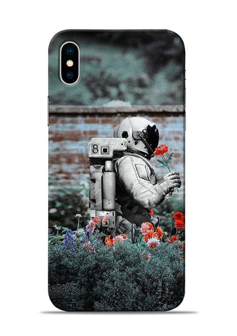 Astronaut Garden iPhone XS Mobile Back Cover