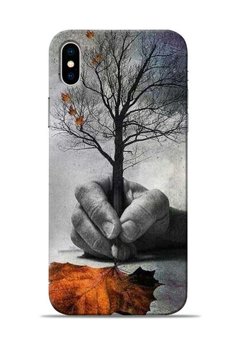 Lovely leaf iPhone XS Mobile Back Cover