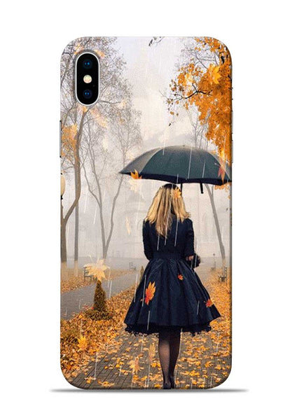 Walk In A Rain iPhone XS Mobile Back Cover