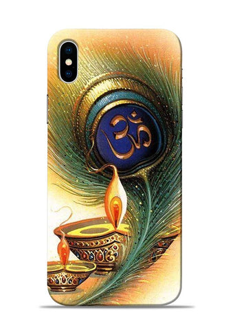 The Glowing Diya iPhone XS Mobile Back Cover