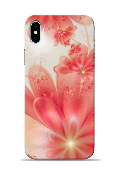 Glowing Flower iPhone XS Mobile Back Cover