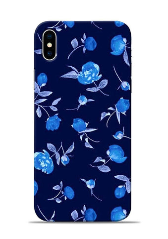 The Blue Flower iPhone XS Mobile Back Cover