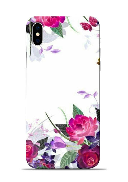 The Great White Flower iPhone XS Mobile Back Cover