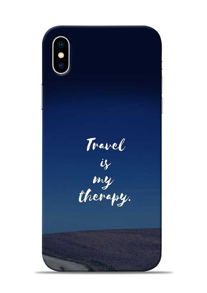 Travel Is My Therapy iPhone XS Mobile Back Cover