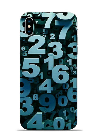 The Numbers iPhone X Mobile Back Cover