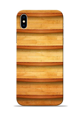 Wooden Texture iPhone X Mobile Back Cover