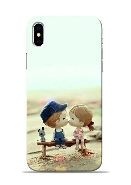 The First Kiss iPhone X Mobile Back Cover