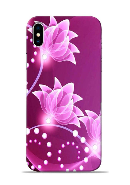 Pink Flower iPhone X Mobile Back Cover