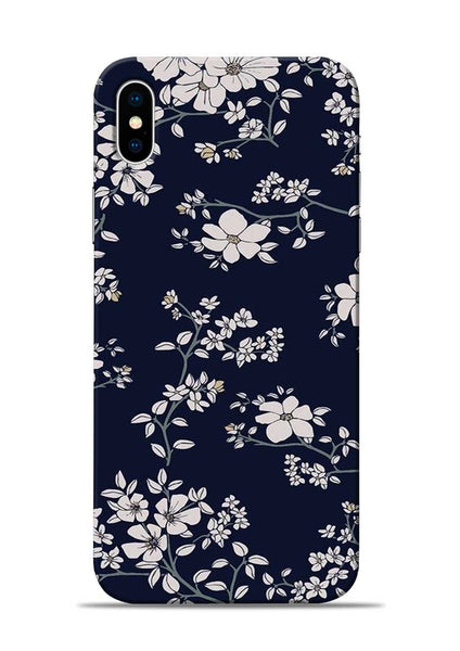 The Grey Flower iPhone X Mobile Back Cover