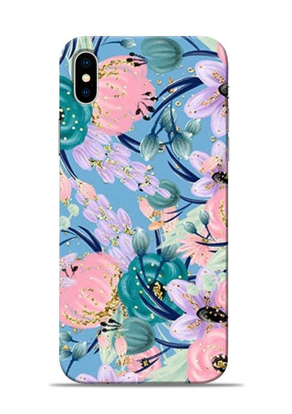 Lovely Flower iPhone X Mobile Back Cover