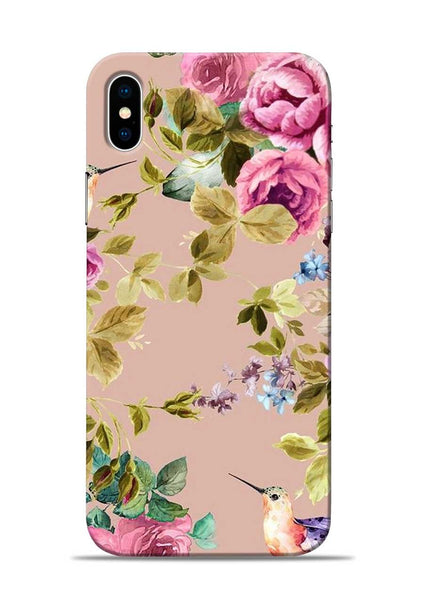 Red Rose iPhone X Mobile Back Cover