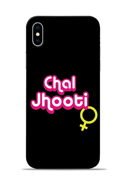 Chal Jhooti iPhone X Mobile Back Cover