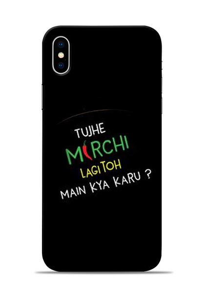Mirchi Lagi To iPhone X Mobile Back Cover