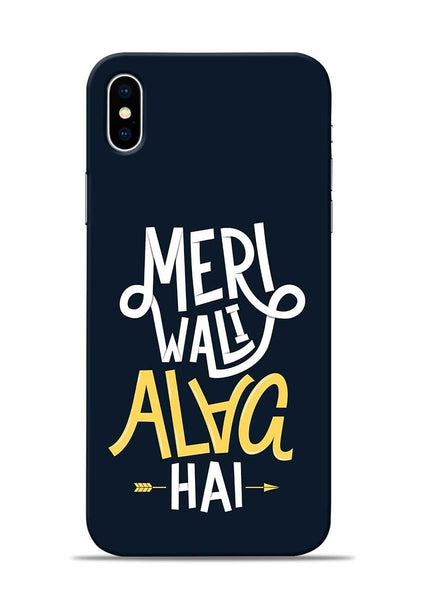 Meri Wali Alag Hai iPhone X Mobile Back Cover